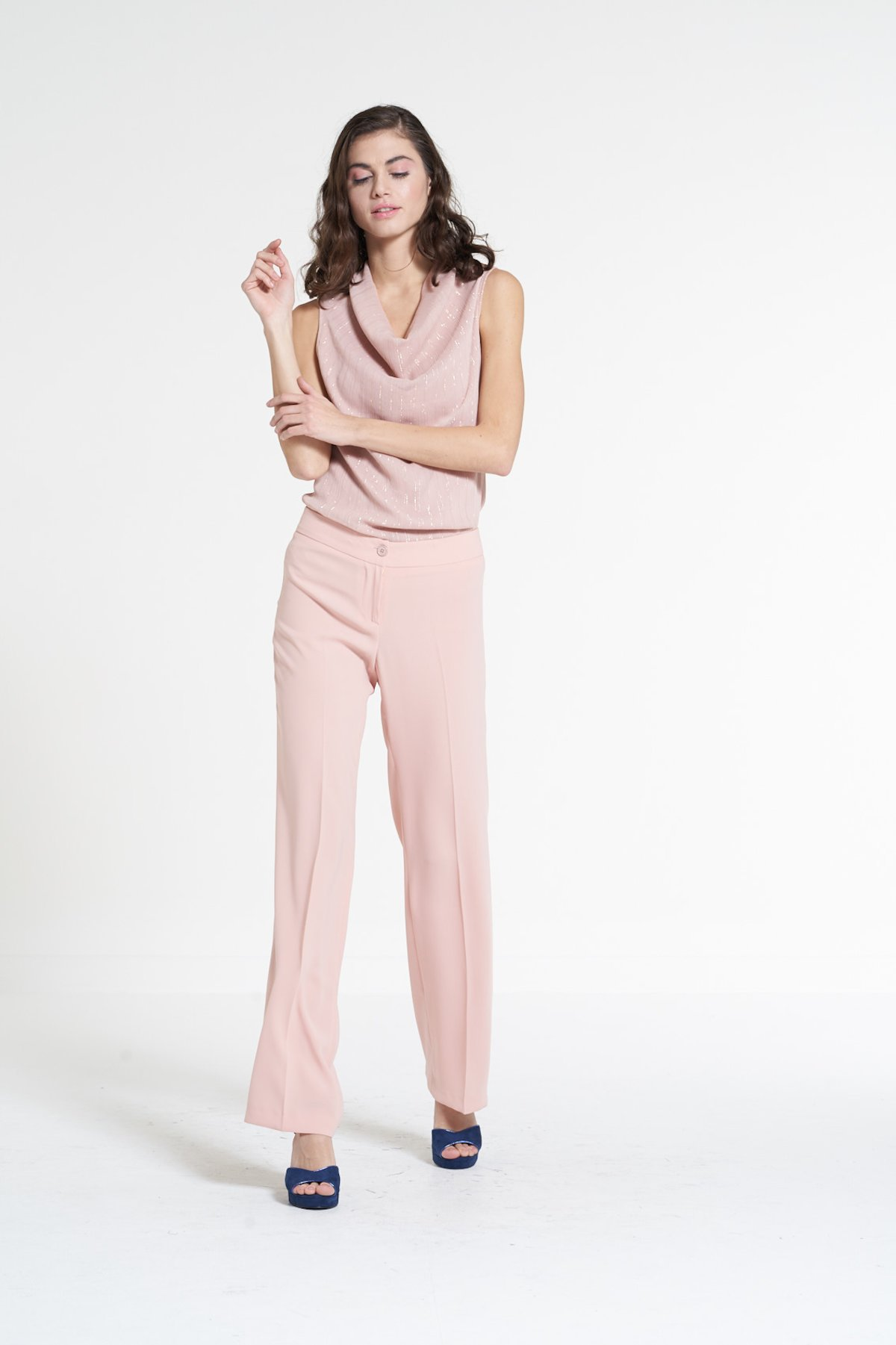 Wide-leg pants Pierre - Calcite - Woman