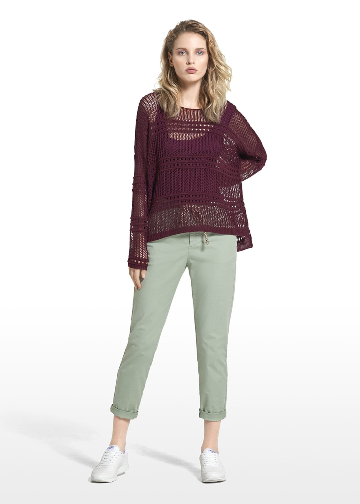 Pantaloni Pixy con dettaglio corda - Alga - Donna