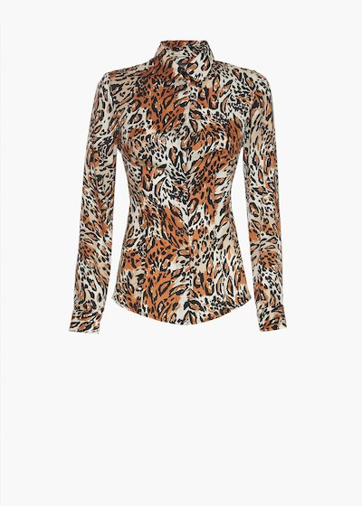 Blouse Cindy with animalier print