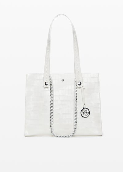 Briant croco bag with double handles