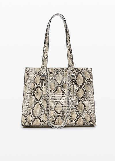 Python bag Blaky con multi-scomparto in ecopelle