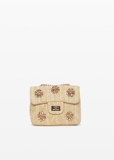 Clutch bag Byss con applicazioni fiori