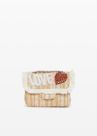 "Blove clutch bag with ""love"" lettering print"
