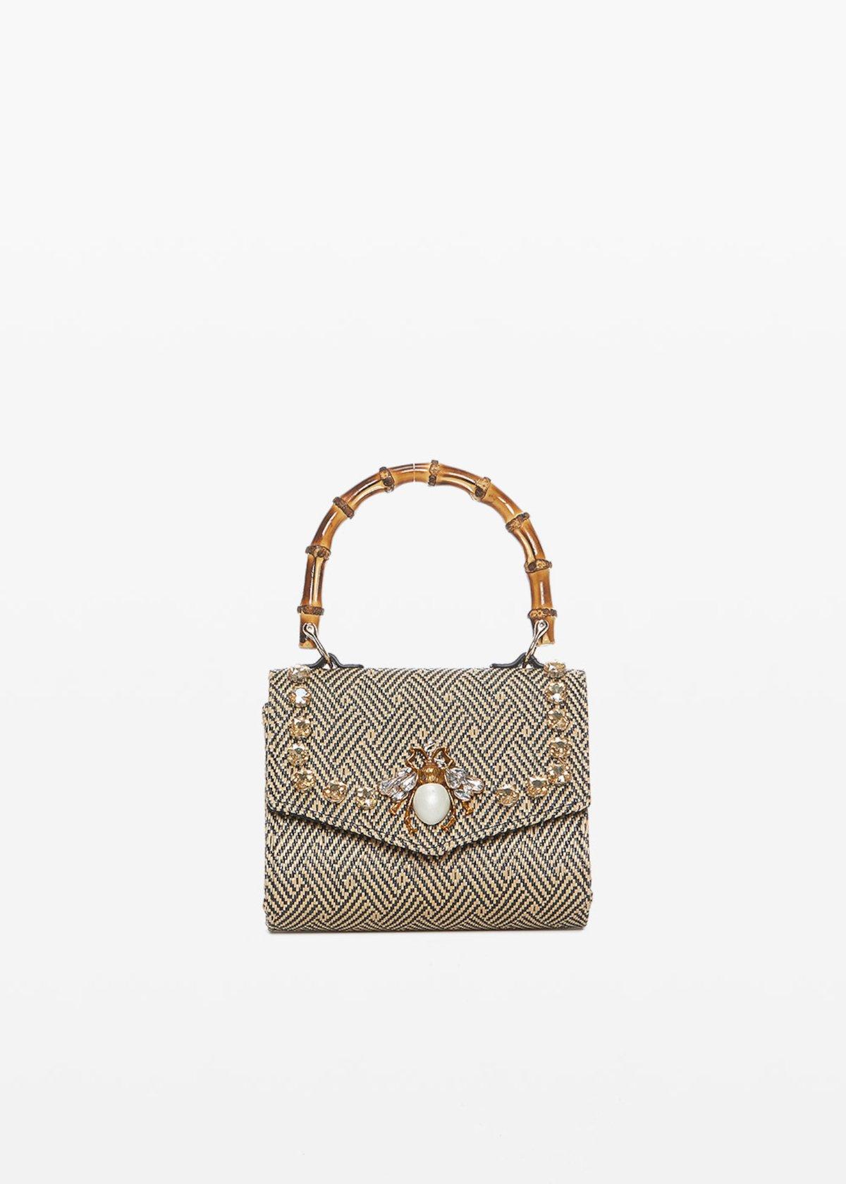 Clutch bag Braided in paglia intrecciata - Nomad / Black - Donna - Immagine categoria