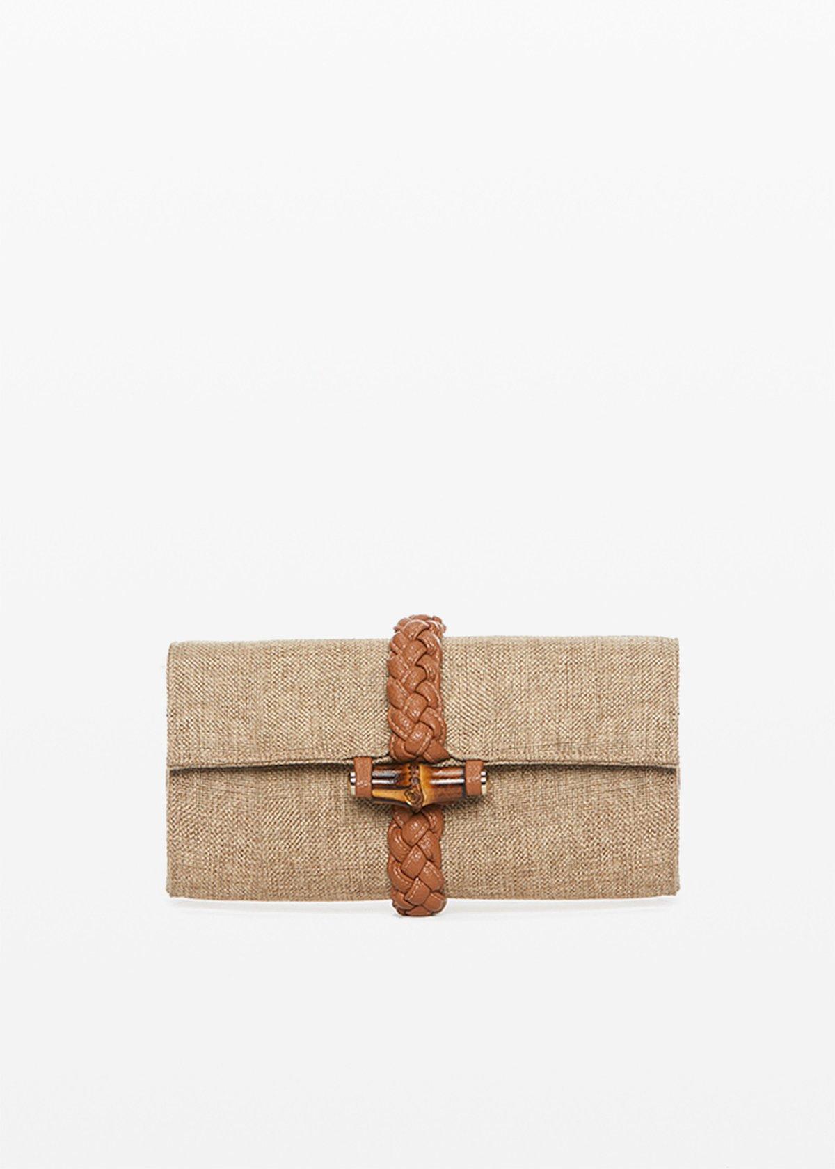 Bard clutch weaving detail - Desert / Lion - Woman