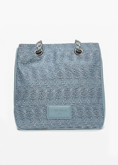 Glitter Batsey bag denim effect
