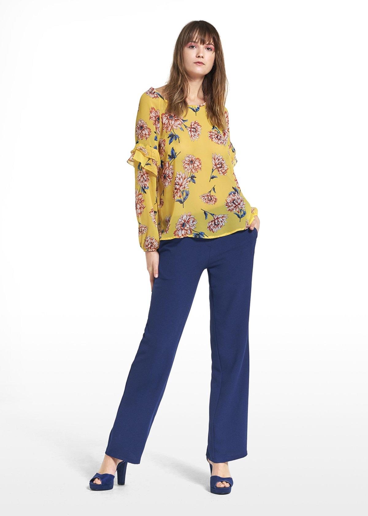 Shirt Crimea with Tahiti pattern - Ananas / Calcite Fantasia - Woman - Category image