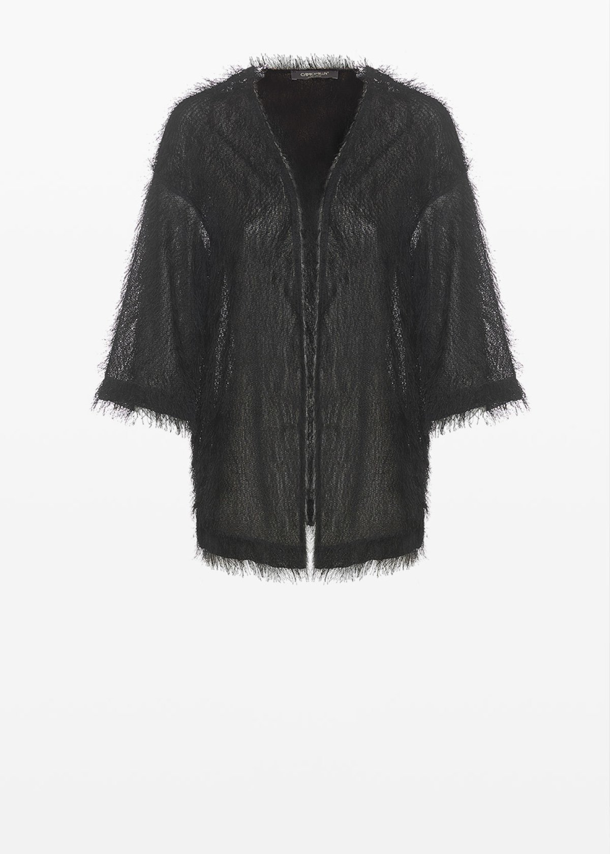Craing faux fur unlined shrug - Black - Woman