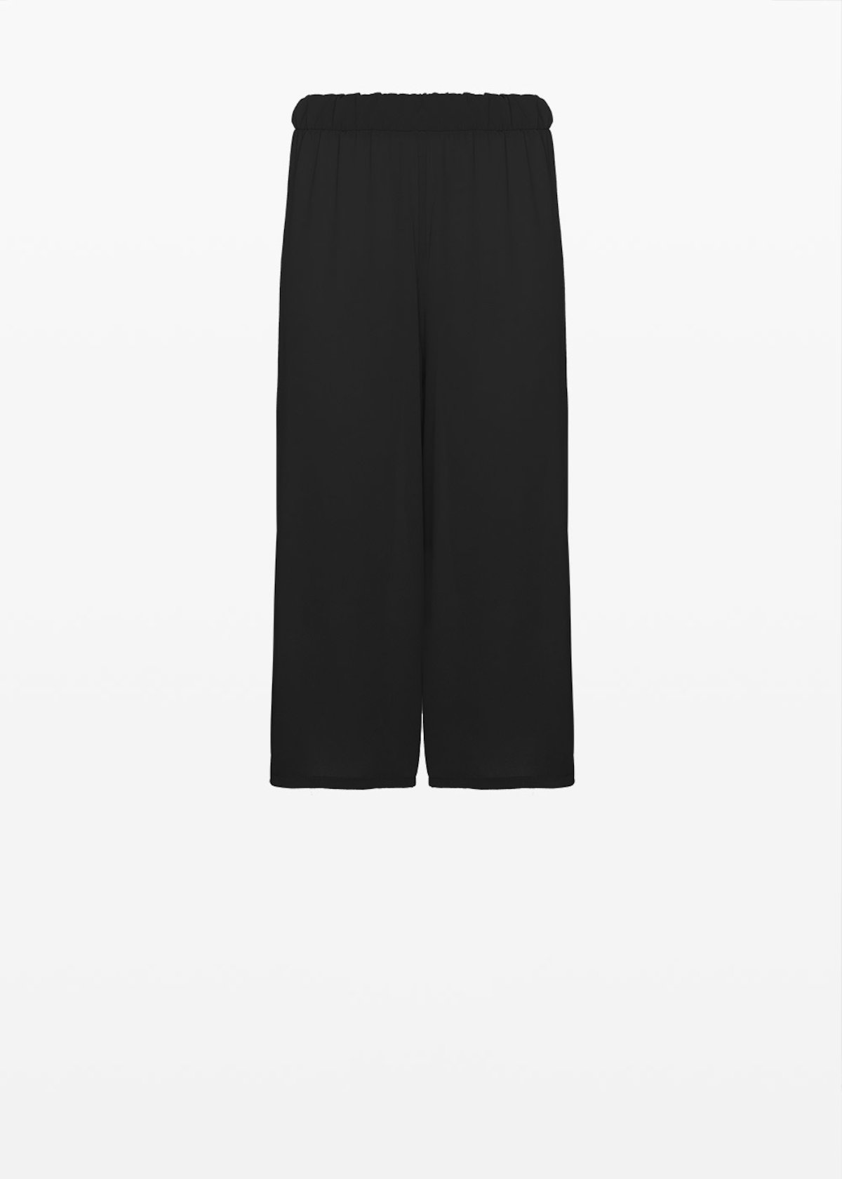 Hammered crepe Peleo trousers with elastic waist