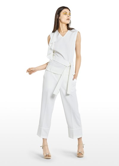 Tinko Top with symmetric ruffle and belt