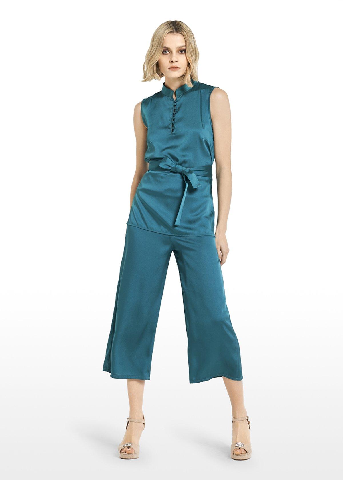 Tiago top satin effect with Jap Korean collar - Jungle - Woman - Category image