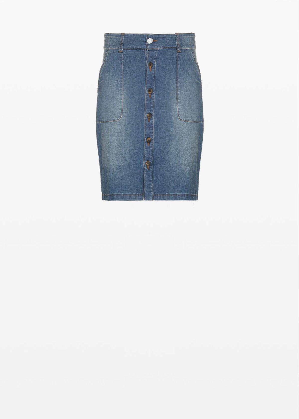 Giusy denim skirt - Blue - Woman - Category image
