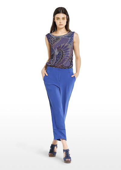 Pako Capri trousers with side piping at the bottom