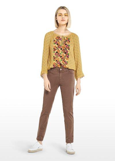 Primero trousers Bali print with elastic waist
