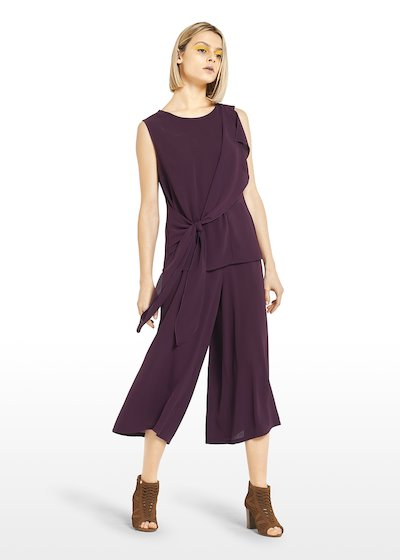 Theo top with knot front panel