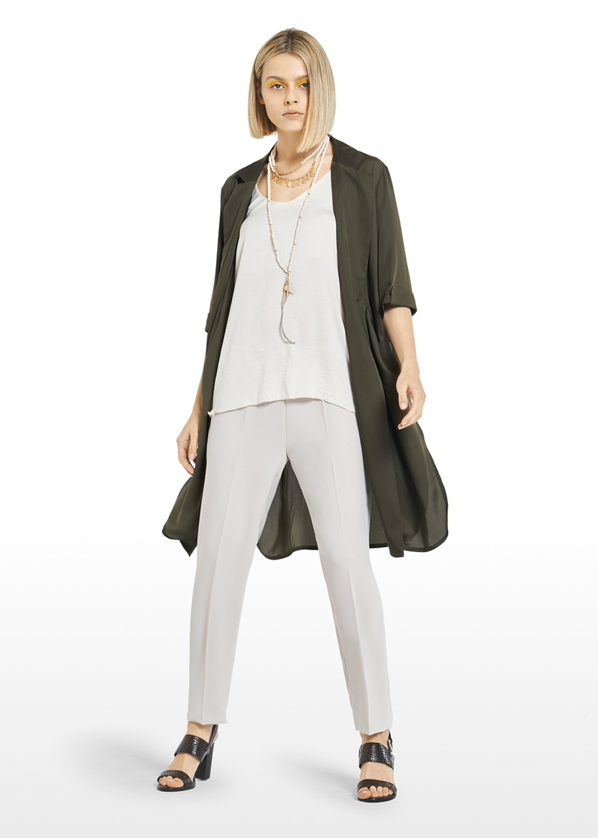 Cliz shirt with lapels and side slits - Alga - Woman