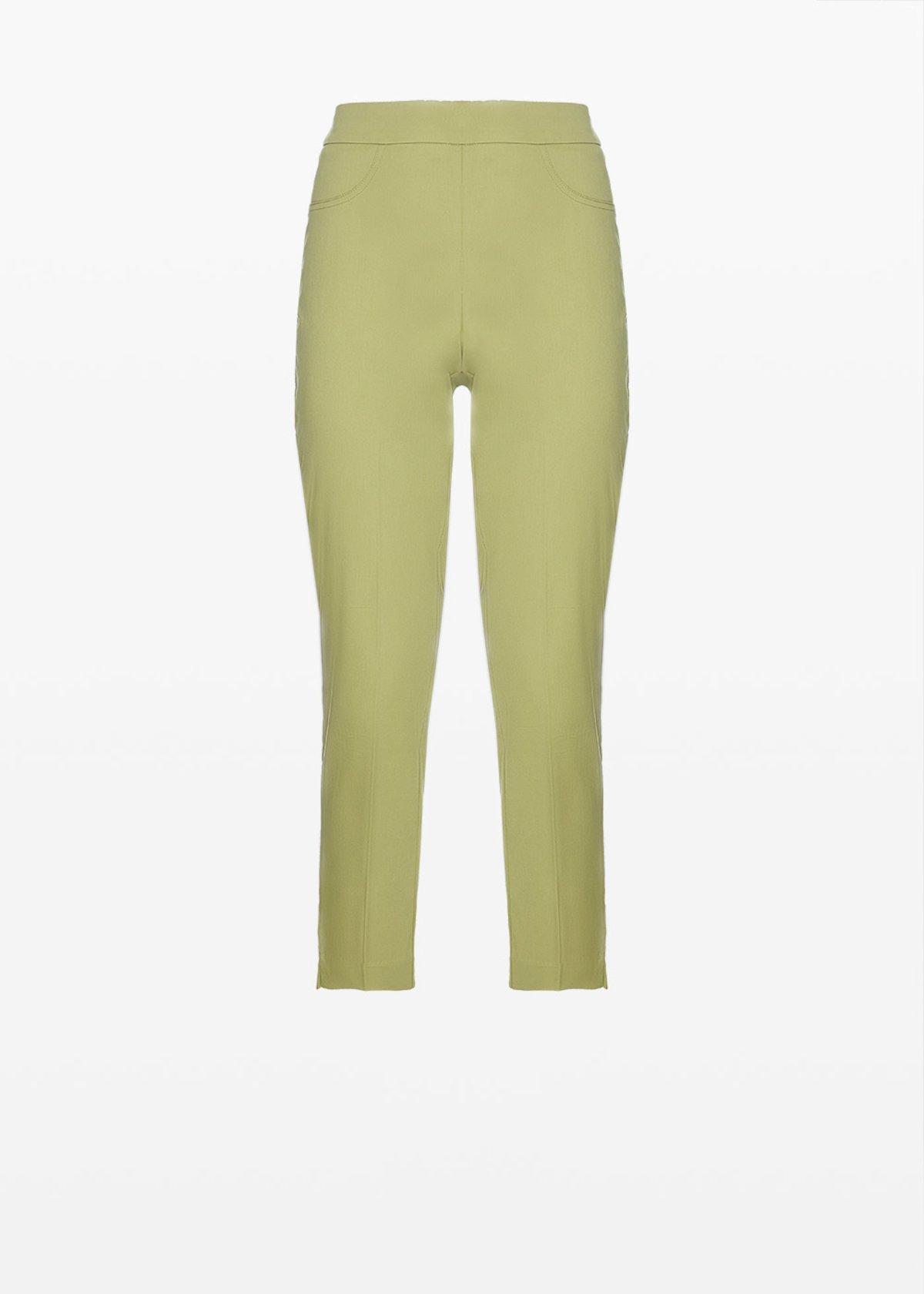 Capri Pants 'Piero6' Scarlett design in cotton sateen - Alga - Woman