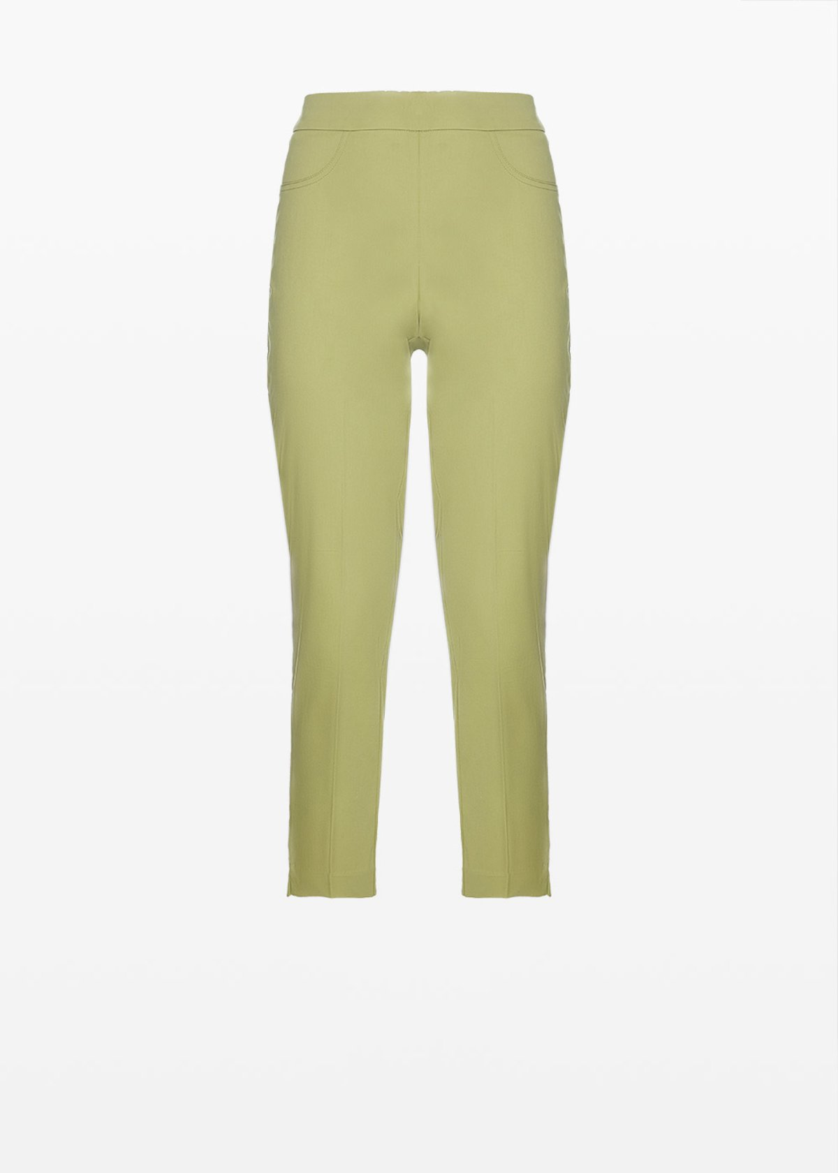 Capri Pants 'Piero6' Scarlett design in cotton sateen - Alga - Woman