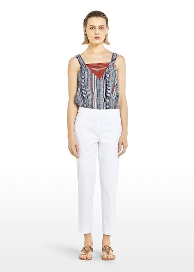 Capri Pants 'Piero6' Scarlett design in cotton sateen