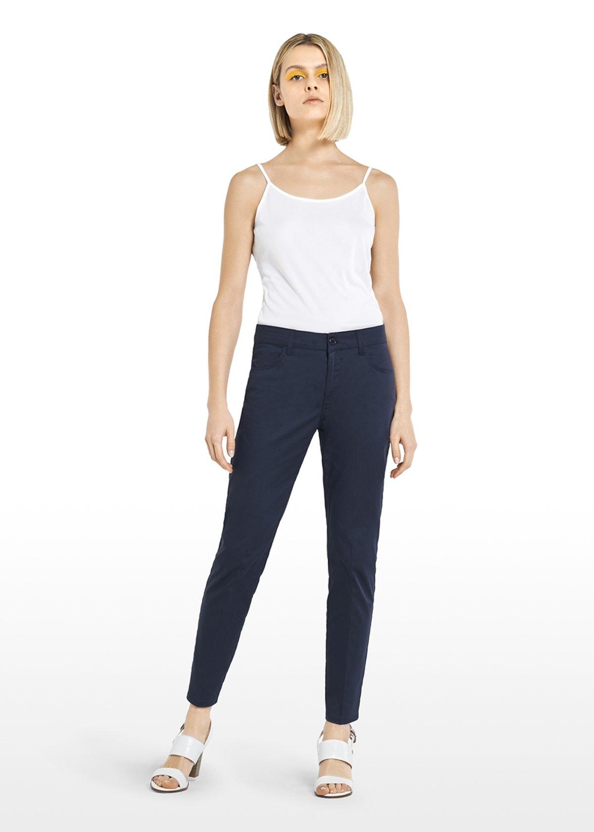 Kate C cotton trousers - Medium Blue - Woman