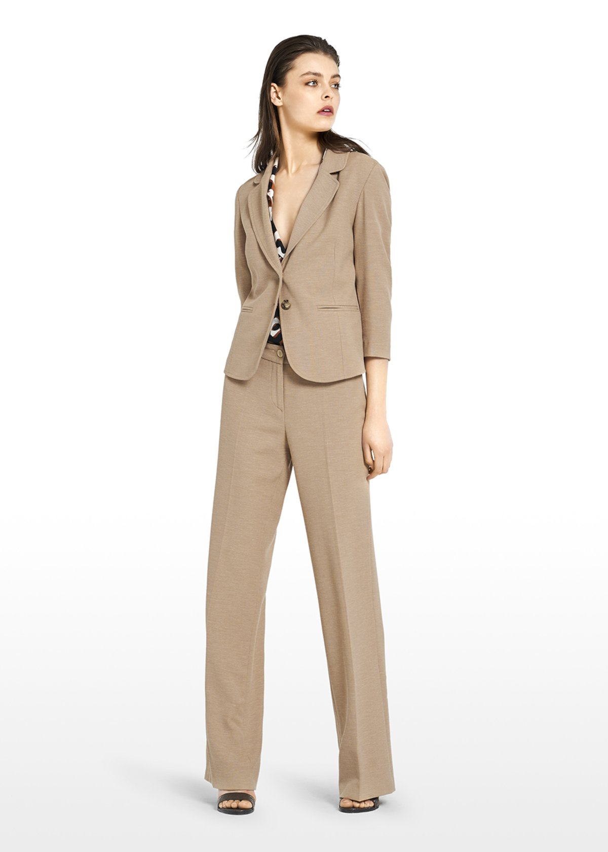 Gabrielle jacket in linen blend with double button - Nomad - Woman