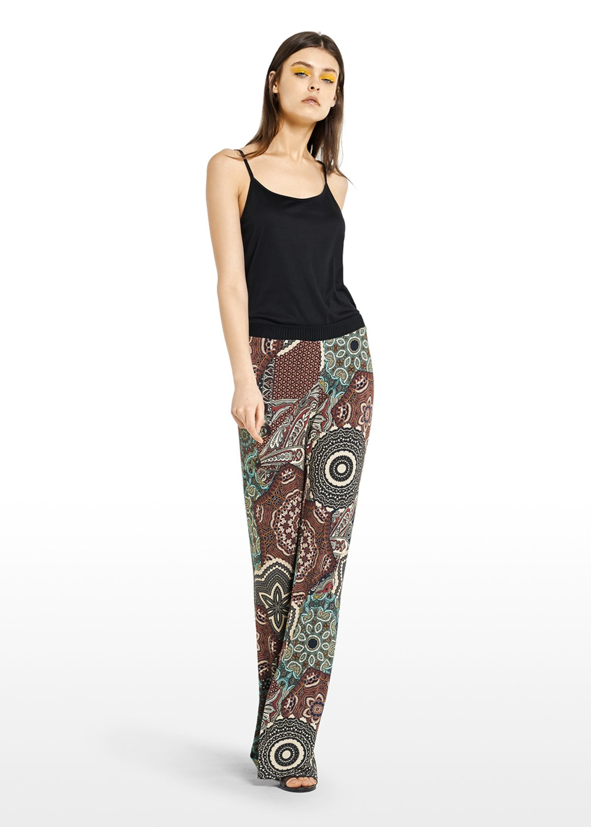 Paradise trousers with Copacabana pattern - Carota / Alga Fantasia - Woman - Category image
