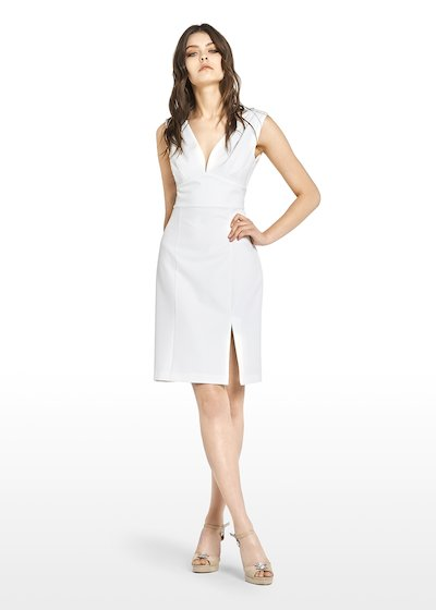 38baa2b7026f Athos sleeveless dress with V-neck - White - vedi 1