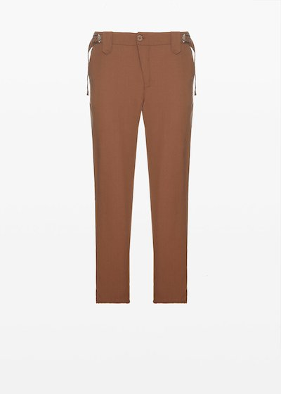 Prince capri trousers in lyocell fabric