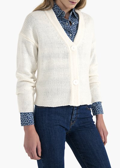 Cayl long-sleeved V-neck cardigan