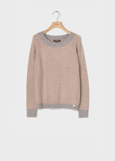 Solvent - coloured sweater with wool