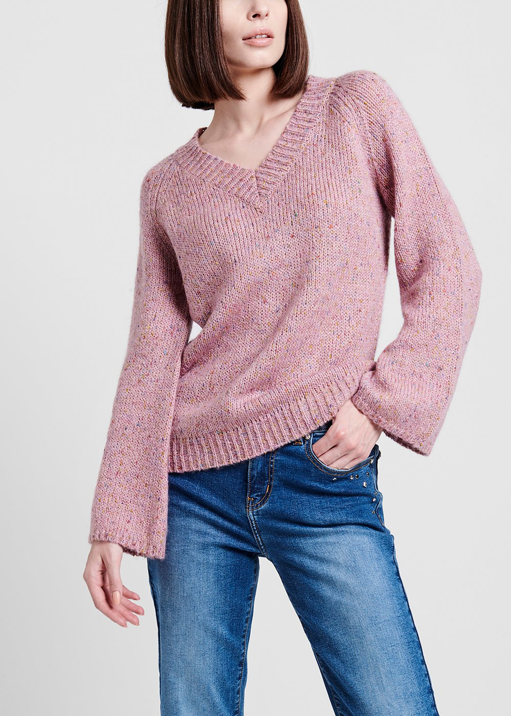Malika V-neck sweater - Solvente - Woman