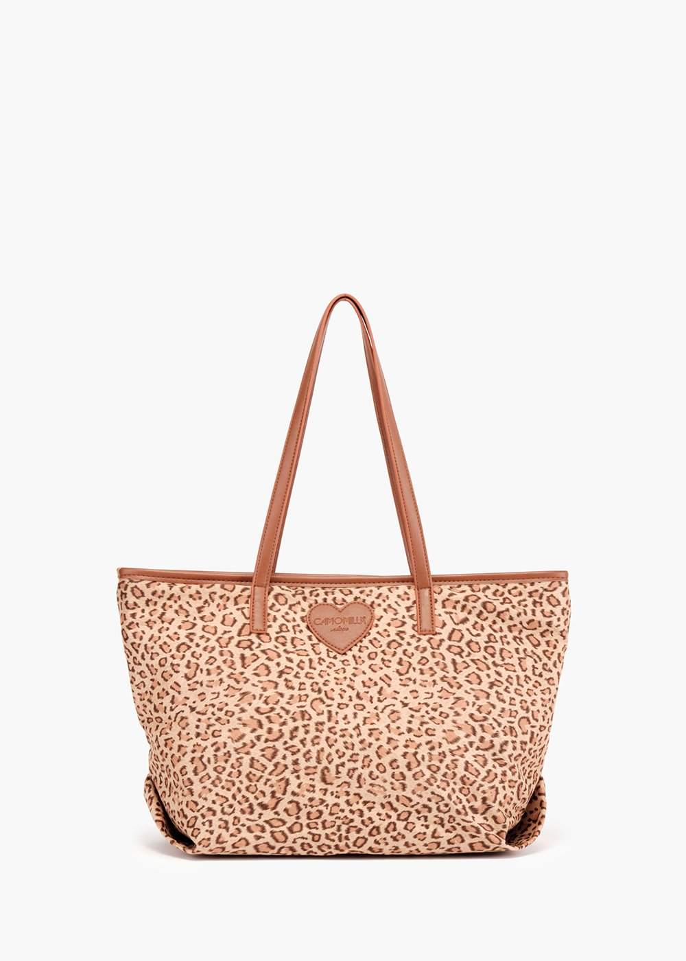 Bodel shopping bag with animal print and eco leather details - Suolo / Mais - Woman