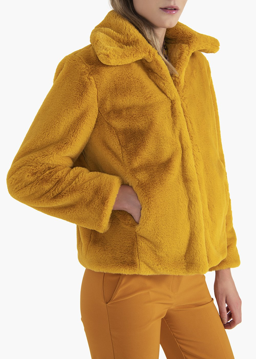 Gavin jacket in faux fur with collar - Mais - Woman