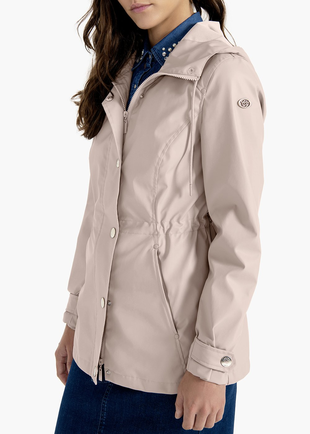 Georg jacket in technical waterproof fabric with hood