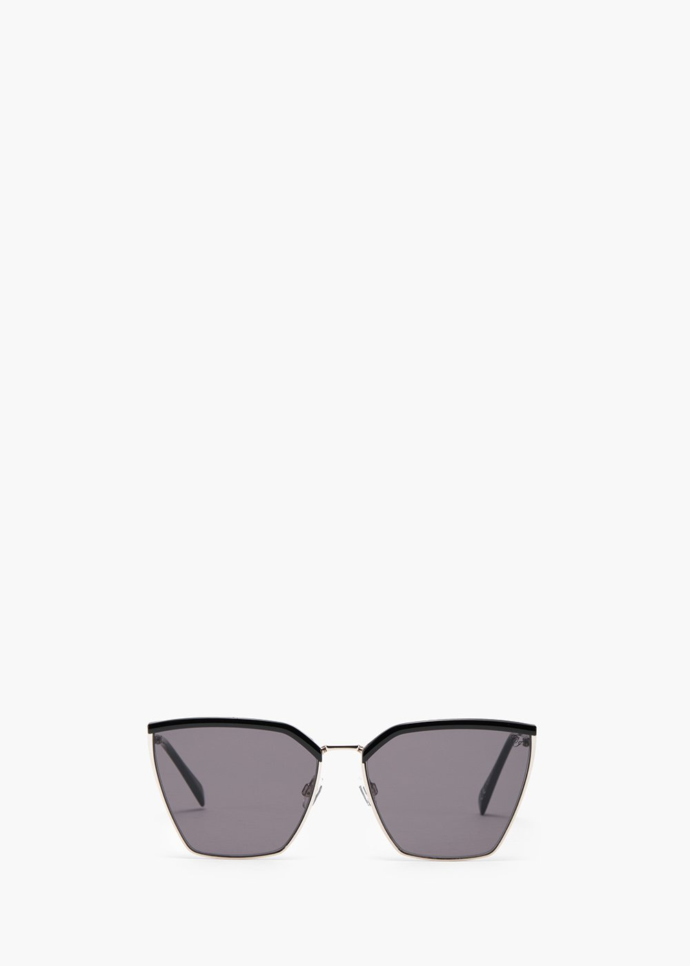 Sunglasses square model with black colour resin detail - Black - Woman
