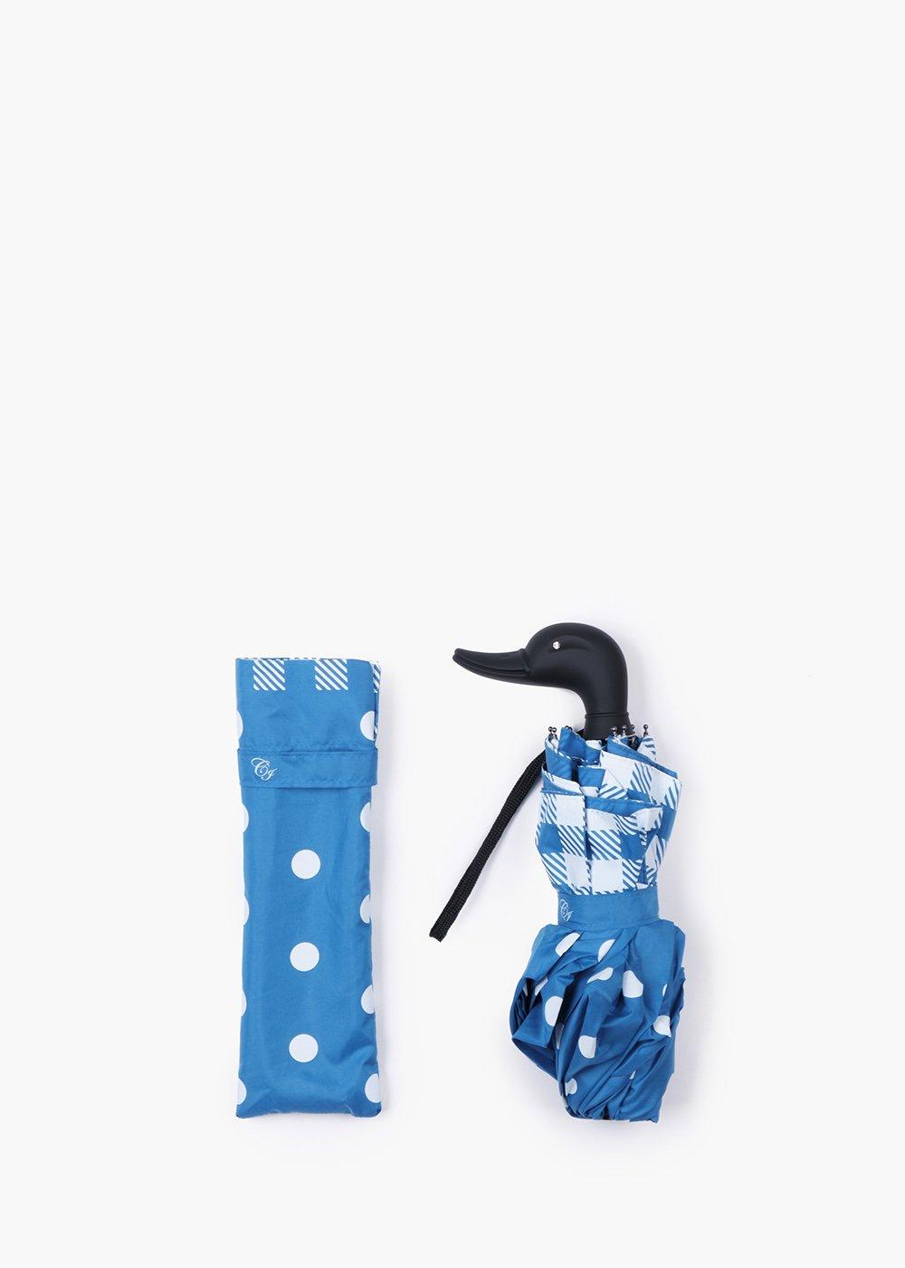Cobalt-white Checkpois umbrella - Cobalto / White Fantasia - Woman