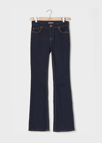 5 - pocket denim with faux-suede piping