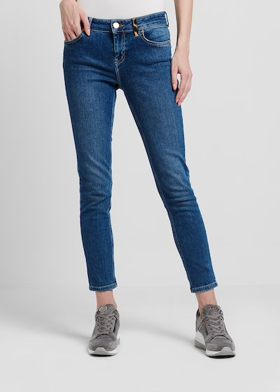 Denim modello cinque tasche skinny medium blu