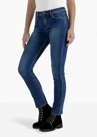 Trousers Dolly in skinny leg denim with side studs
