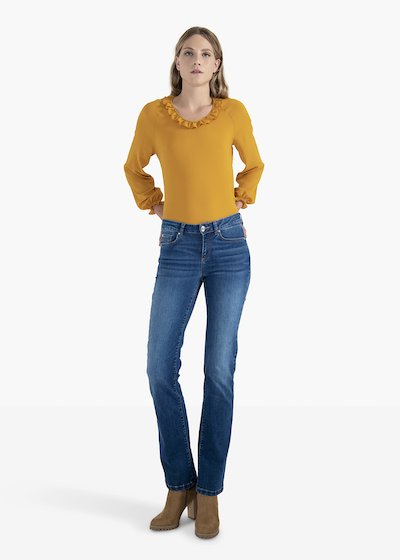 Jeans 5 tasche Daisy modello bootcut