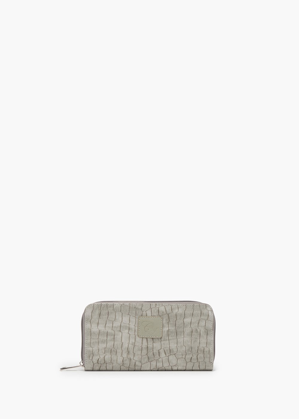Phillys wallet in eco leather with coco print - White - Woman