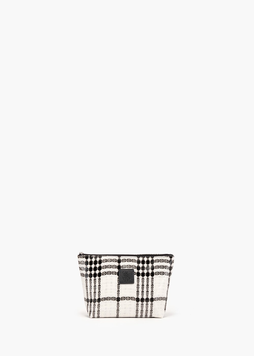 Beauty Bali Tartan in tartan fabric with zip closure - White / Black Fantasia - Woman
