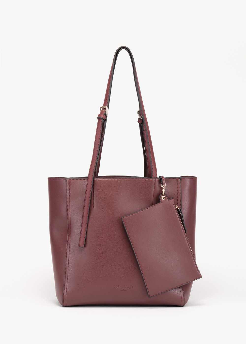 Shopping bag Belia in eco pelle sfoderata - Amarena - Donna