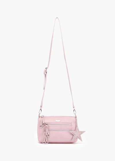 Bily pochette with shoulder strap in glitter fabric