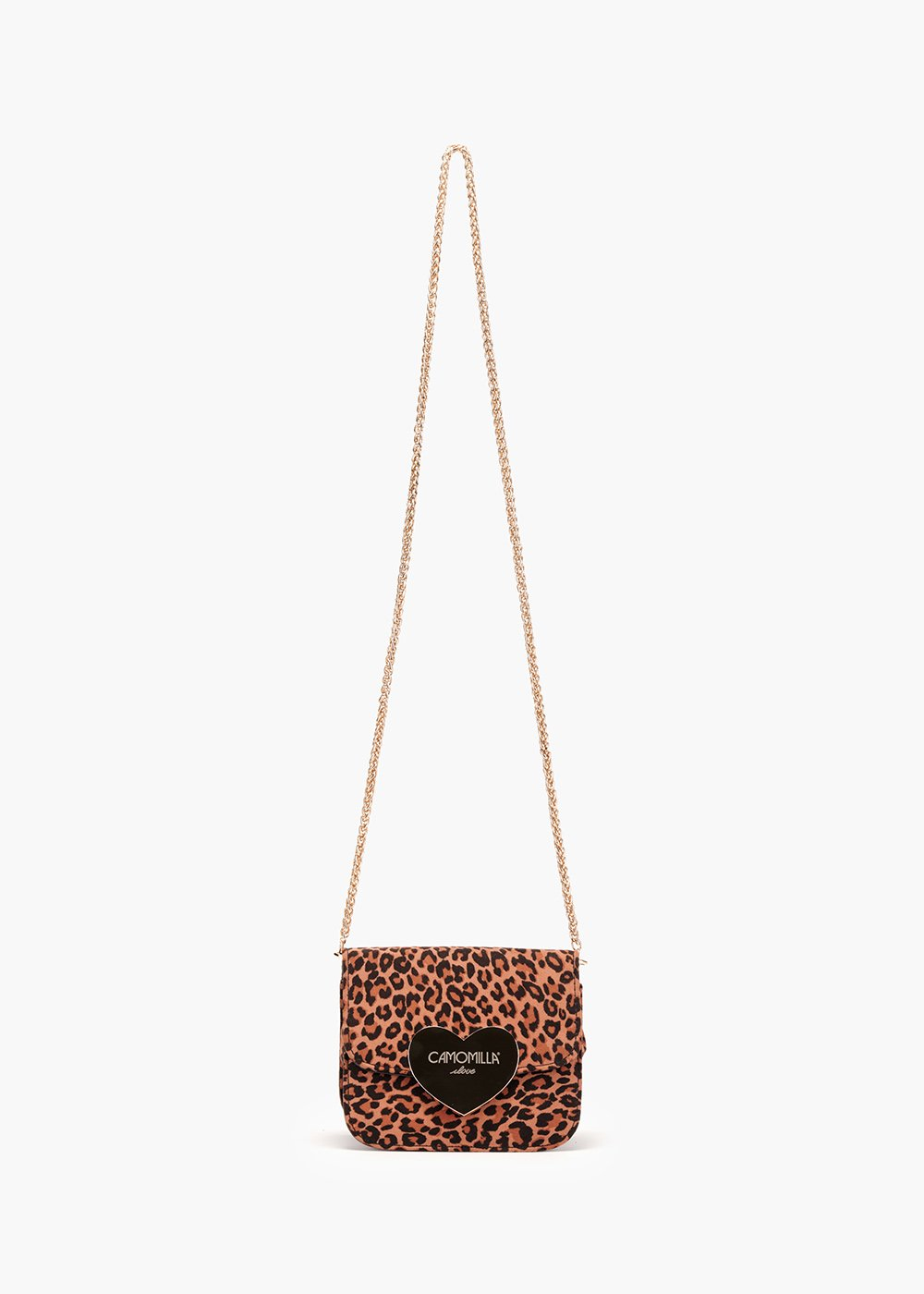 Bogota pochette in eco animalier suede - Sughero /  Marrone / Animalier - Woman