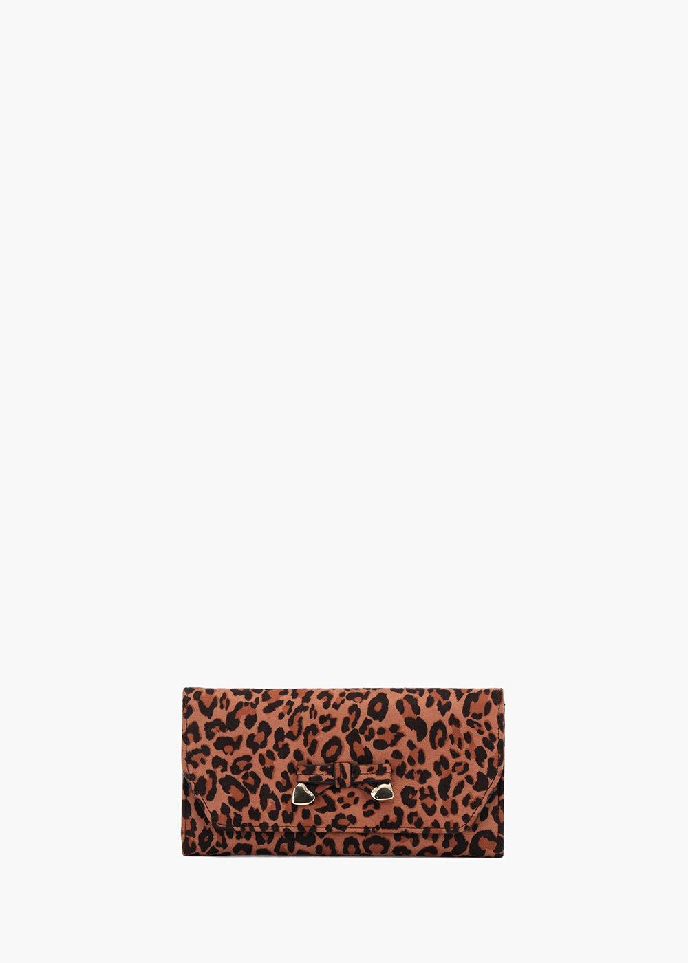 Phoenix wallet with animalier print - Sughero /  Marrone / Animalier - Woman