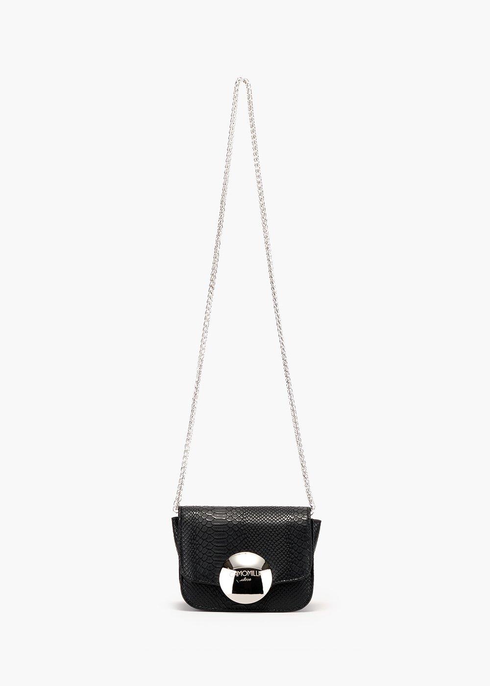 Brianne pochette with chain shoulder strap - Black - Woman