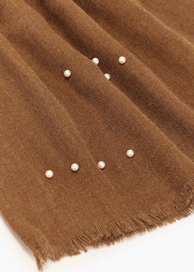 Sciarpa Shellie con dettaglio perle