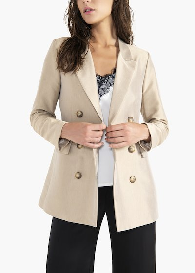 Golia double-breasted jacket in viscose fabric