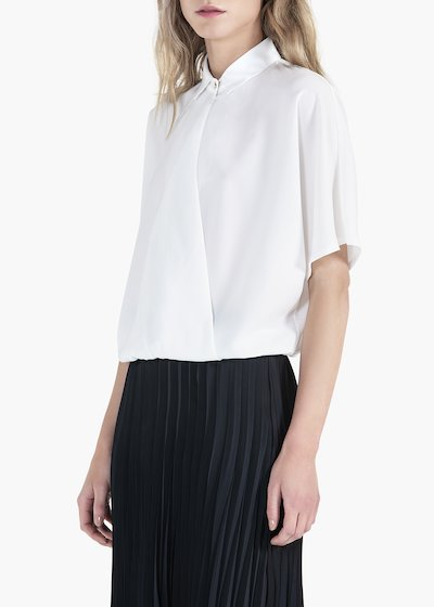 Carina blouse with 3/4 sleeve and collar